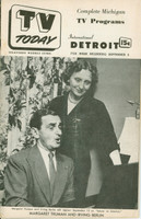 1951 TV TODAY September 8 Margaret Truman and Irving Berlin (24 pg) Detroit edition Very Good - No Mailing Label  [Wear on both covers; contents fine]