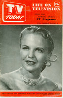 1952 TV TODAY January 5 Peggy Lee (24 pg) Detroit edition Good to Very Good - No Mailing Label  [Heavy wear on both covers; contents fine]