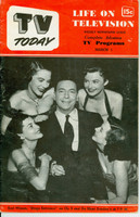 1952 TV TODAY March 1 Earl Wilson of Stage Entrance (32 pg) Detroit edition Fair to Good - No Mailing Label  [Front cover completely DETACHED; contents fine]