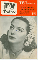 1952 TV TODAY June 21 Marguerite Piazza (32 pg) Detroit edition Very Good to Excellent - No Mailing Label  [Lt wear on cover, contents fine]