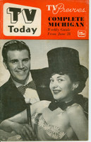 1952 TV TODAY June 28 Johnny Dugan (32 pg) Detroit edition Very Good - No Mailing Label  [Wear on both covers; contents fine]