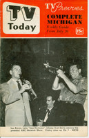 1952 TV TODAY July 26 Les Brown Orchestra (24 pg) Detroit edition Very Good - No Mailing Label  [Heavy vertical crease on cover; contents fine]