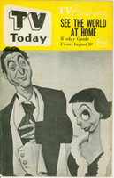 1952 TV TODAY August 30 Sid Caesar and Imogene Coca (24 pg) Detroit edition Very Good to Excellent - No Mailing Label  [Heavy vertical crease on cover; contents fine]