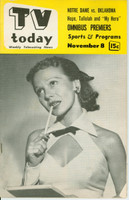 1952 TV TODAY November 8 Ruthie Gilbert (32 pg) Detroit edition Excellent - No Mailing Label  [Lt wear on cover, sl fraying on reverse cover]