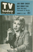 1953 TV TODAY January 24 Ann Southern (32 pg) Detroit edition Very Good  [Wear on both covers; contents fine]