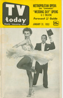 1953 TV TODAY January 31 Male and Female Dancers (32 pg) Detroit edition Excellent  [Lt wear on cover, contents fine]