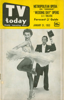 1953 TV TODAY January 31 Male and Female Dancers (32 pg) Detroit edition Very Good - No Mailing Label  [Wear on both covers; contents fine]