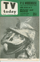 1953 TV TODAY March 7 Oliver J. Dragon (32 pg) Detroit edition Very Good to Excellent - No Mailing Label  [Wear on both covers; contents fine]