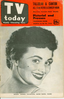 1953 TV TODAY March 14 Maureen Cannon (32 pg) Detroit edition Very Good - No Mailing Label  [Heavy wear on both covers, stray WRT on reverse; contents fine]