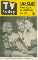 1953 TV TODAY June 5 Actresses Reading TV Today (40 pg) Detroit edition Good to Very Good - No Mailing Label  [Heavy wear on cover, creasing; contents fine]