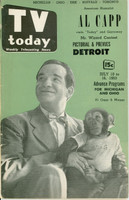 1953 TV TODAY July 10 Al Capp (40 pg) Detroit edition Very Good - No Mailing Label  [Wear along binding, cover creasing; contents fine]