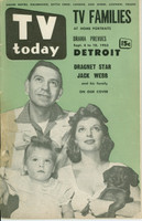 1953 TV TODAY September 4 Jack Webb and Family (40 pg) Detroit edition Fair to Good - No Mailing Label  [Binding nearly completely torn, tape on cover; listings fine]