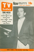 1954 TV TODAY October 1 Perry Como (24 pg) Detroit edition Very Good to Excellent - No Mailing Label