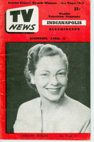 1952 TV News April 11 Carolyn Ackors Indiana edition Good to Very Good  [Vertical crease, wear and scuffing on cover; contents fine]