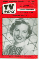 1952 TV News June 20 Billie Lawrence Indiana edition Good to Very Good  [Wear, creasing and small moisture stain on cover; contents fine]