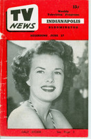 1952 TV News June 27 Gale Storm of My Little Margie Indiana edition Good to Very Good  [Heavy wear on cover, small tear along binding; contents fine]
