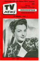 1952 TV News July 4 Lynn Bari Indiana edition Very Good - No Mailing Label  [Vertical crease, contents fine]