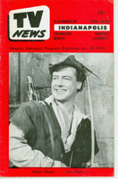 1956 TV News January 13 Robin Hood Indiana edition Very Good to Excellent  [Lt wear on cover; contents fine]