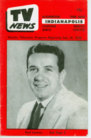 1956 TV News February 10 Paul Lennon Indiana edition Very Good to Excellent  [Wear and creasing on cover; contents fine]