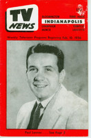 1956 TV News February 10 Paul Lennon Indiana edition Very Good  [Wear and creasing on cover, small paper loss on cover; contents fine]