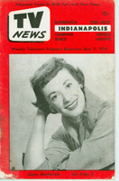 1956 TV News May 11 Gisele MacKenzie Indiana edition Fair to Good  [Partial split on binding, heavy soiling; l moisture; contents fine]