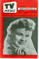 1956 TV News October 5 Sally Forrest Indiana edition Very Good to Excellent - No Mailing Label  [Heavy curl along binding, contents fine]