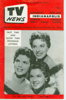 1956 TV News October 12 The McGuire Sisters Indiana edition Very Good to Excellent  [Lt wear on cover; contents fine]