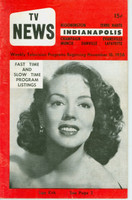 1956 TV News November 16 Lisa Kirk Indiana edition Very Good to Excellent - No Mailing Label  [Wear and toning on cover; contents fine]