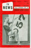 1956 TV News December 29 New Year - 1957 Indiana edition Very Good to Excellent  [Wear and creasing on cover; contents fine]