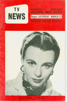 1957 TV News March 23 Claire Bloom Indiana edition Very Good to Excellent  [Wear and creasing on cover; contents fine]