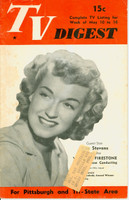 1952 TV DIGEST May 10 Rise Stevens (32 pgs) Pittsburgh edition Good to Very Good  [Wear and lt staining on cover; contents fine]