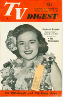 1952 TV DIGEST May 17 Barbara Benson (32 pgs) Pittsburgh edition Good to Very Good  [Sl warp from previous moisture, contents fine]
