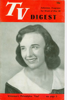 1950 TV DIGEST May 20 Nancy Lewis of TV Teen Club (24 pgs) Philadelphia edition Very Good to Excellent  [Lt wear on cover; contents fine]
