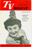 1951 TV DIGEST March 24 Maureen Cannon of the Paul Whiteman Revue (32 pgs) Delaware edition Very Good  [Wear on cover, sl creasing; contents fine]