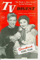 1952 TV DIGEST January 12 Marion Marlowe and Frank Parker (40 pgs) Delaware edition Very Good to Excellent  [Lt wear on cover, ow clean; label stamped on reverse]