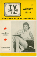 1955 TV Guide and Life August 13 Gloria DeHaven (28 pg) Portland edition Very Good to Excellent  [Lt wear on cover, contents fine; label on reverse]