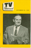 1949 TV FORECAST November 26 Fred Waring (24 pg) Chicago edition Very Good  [Lt curl along binding, ow clean]