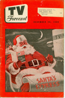 1949 TV FORECAST December 24 Merry Christmas (24 pg) Chicago edition Very Good  [Wear and scuffing on cover; contents fine]