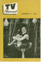 1949 TV FORECAST December 31 Mercedes McCambridge (24 pg) Chicago edition Very Good to Excellent  [Wear and scuffing on cover; contents fine]