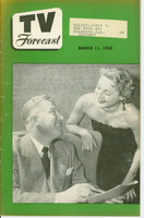 1950 TV FORECAST March 11 Eleanor Binder and Jim Moran of Courtesy Hour (32 pg) Chicago edition Very Good to Excellent  [Wear and toning on cover; contents fine]
