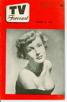 1950 TV FORECAST March 18 Susann Shaw (32 pg) Chicago edition Excellent to Mint - No Mailing Label  [Lt wear on cover, name WRT on cover; contents fine]