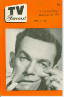 1950 TV FORECAST April 22 Jack Carter (32 pg) Chicago edition Near-Mint - No Mailing Label  [Lt wear on cover, name WRT on cover; contents fine]