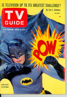 1966 TV Guide Mar 26 Batman - CLASSIC COVER! Wisconson edition Excellent - No Mailing Label  [Very lt scuffing on cover, ow very clean]