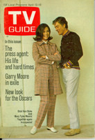 1969 TV Guide Apr 12 Mary Tyler Moore and Dick Van Dyke Iowa edition Very Good to Excellent - No Mailing Label  [Lt wear and creasing on cover; contents fine]