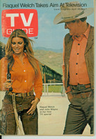 1970 TV Guide Apr 25 Raquel Welch and John Wayne Northern New England edition Excellent - No Mailing Label  [Very clean example]