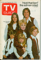 1970 TV Guide Oct 17 Partridge Family (First Cover) Wisconson edition Very Good to Excellent - No Mailing Label  [Wear and creasing on cover; ow clean]
