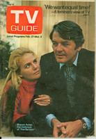 1971 TV Guide February 27 Hal Holbrook and Sharon Acker Western Illinois edition Very Good - No Mailing Label  [Loose at staples; wear on cover, contents fine]