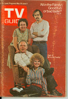 1971 TV Guide May 29 Cast of All in The Family (First Cover) Eastern New England edition Very Good to Excellent - No Mailing Label  [Heavy scuffing on cover; contents fine]