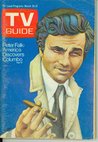 1972 TV Guide Mar 25 Peter Falk as Columbo (First Cover) Eastern New England edition Very Good - No Mailing Label  [Wear and scuffing on cover; heavy moisture on back cover; contents fine]