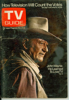 1972 TV Guide Nov 4 John Wayne Pittsburgh edition Very Good - No Mailing Label  [Wear and creasing on cover; ow clean]